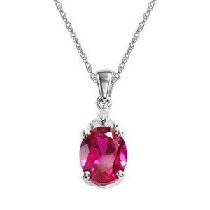 Jewelry - sterling silver ruby pendant necklace